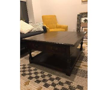 Antique Mahogany Coffee Table w/ Storage