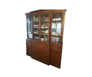 Mahogany China Cabinet w/ Desk