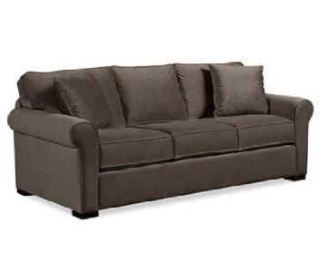 Macy's Grey Microsuede Sofa