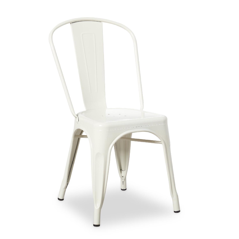 Tabouret Bistro Steel Dining Chairs In Powder Coated Aptdeco