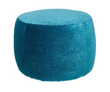 ABC Carpet and Home Velvet Rolling Ottoman