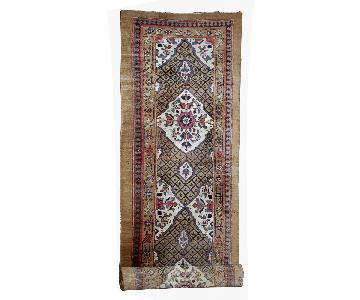 Antique Handmade Persian Camel Hair Runner Rug