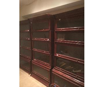 Barrister Bookcases in Cherry Wood