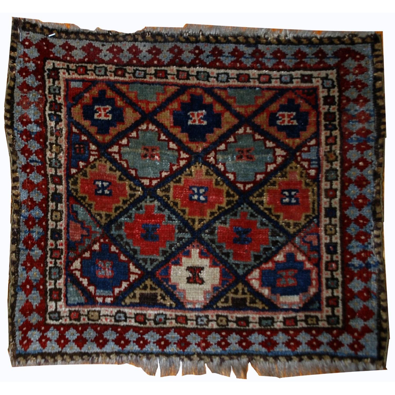 Handmade Collectible Persian Jaf Kurdish Bag Face Rug