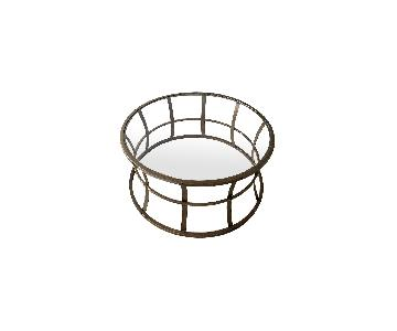 Pottery Barn Circular Glass Top Coffee table