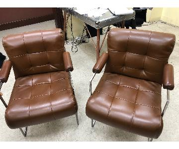 Vintage 1979 Brown Armchairs