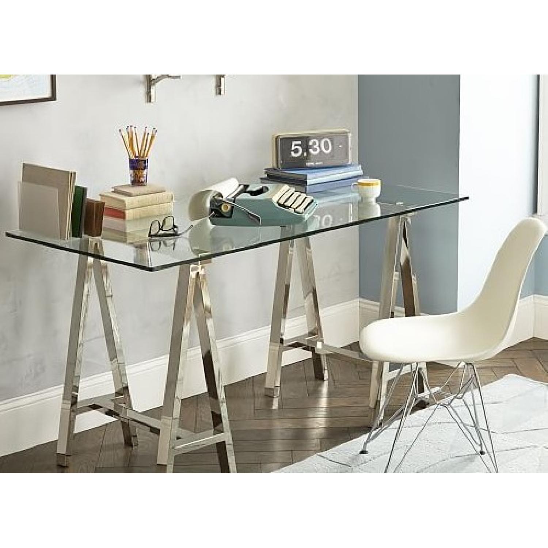 West Elm Glass Desk