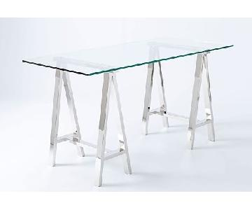 West Elm Glass Desk