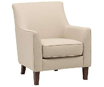 Stone & Beam Cheyanne Marshmallow Accent Chair