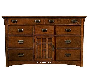 Raymour & Flanigan Artisan Ridge Oak Dresser