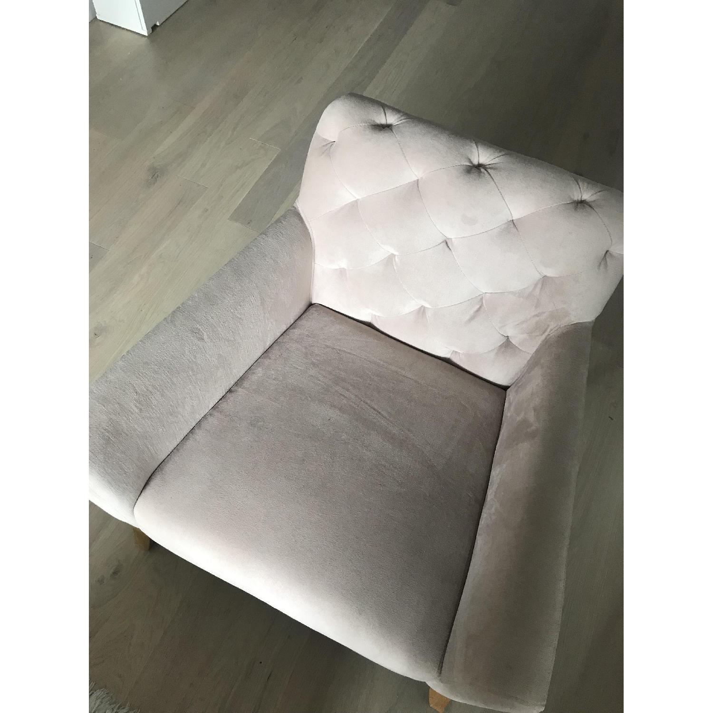 West Elm Pink Armchair