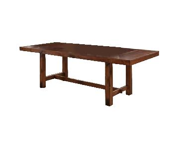 Middlebrook Designs Wood Dining Table in Dark Oak