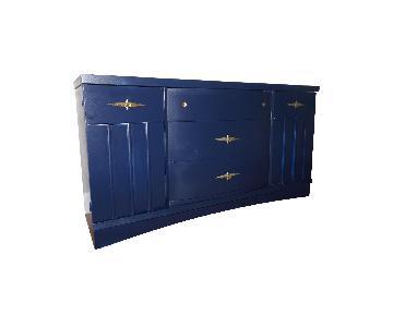 Mid Century Modern Navy Blue Dresser/Credenza