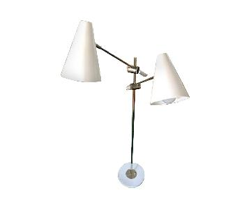 Luminaire Dual Light Cantilevered Floor Lamp