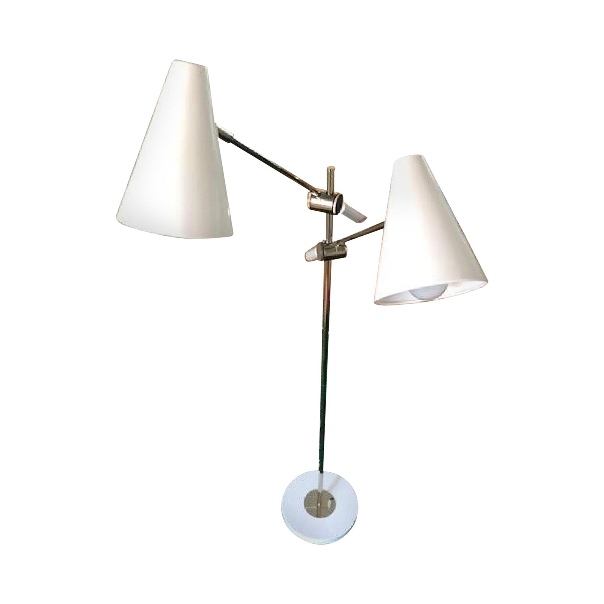 Luminaire Dual Light Cantilevered Floor Lamp