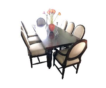 Restoration Hardware Extension Dining Table w/ 8 Chairs