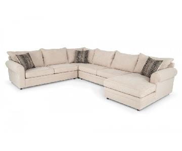 Bob's Venus 4 Piece Chaise Sectional Sofa