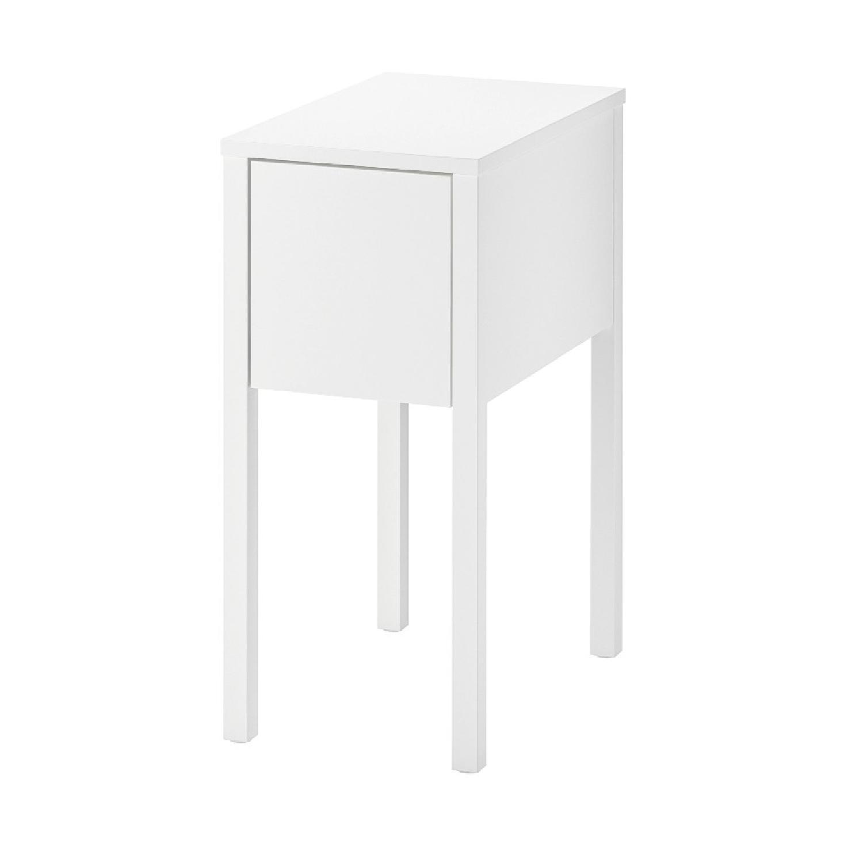 Ikea Nordli White Nightstand Aptdeco