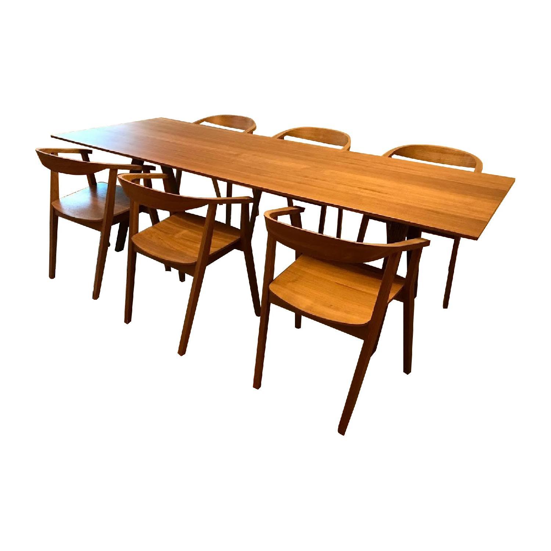 Ikea Stockholm Dining Table W 6 Chairs Aptdeco