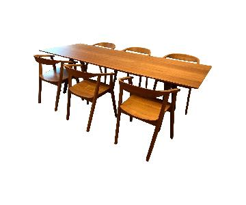 Ikea Stockholm Dining Table w/ 6 Chairs