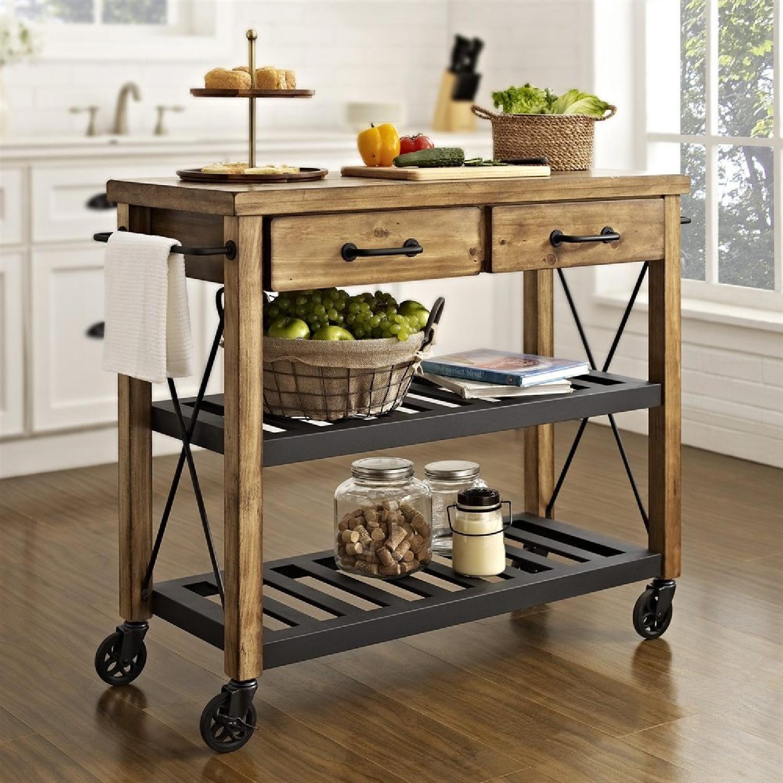 Crosley Wood Kitchen Island Cart
