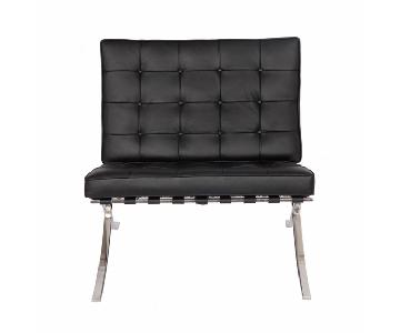 Pavilion Exposition Chair in Black Leather