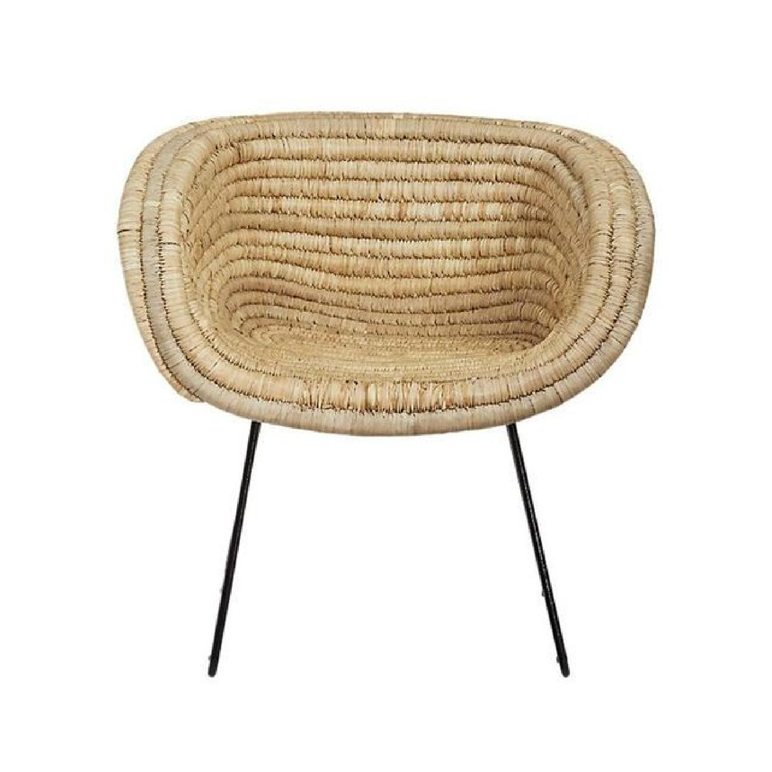 CB2 Rattan Basket Accent Chairs