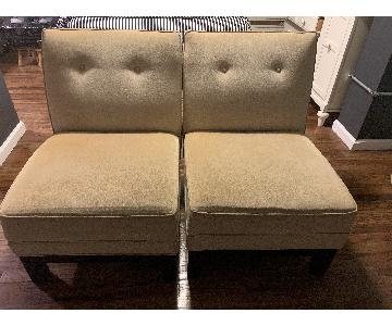 Mitchell Gold+Bob Williams Beige Slipper Chairs