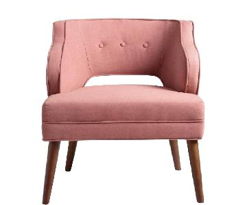 World Market Rose Pink Tyley Upholstered Chair