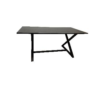Black Wood Office Table