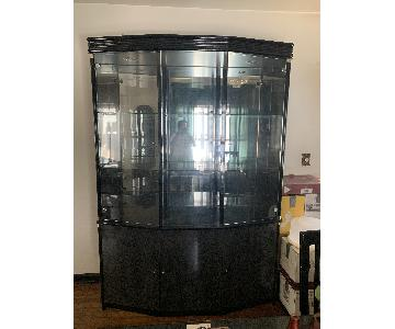 China Cabinet w/ 3-Door Cabinets
