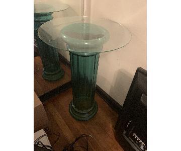 Glass Pedestal w/ Light