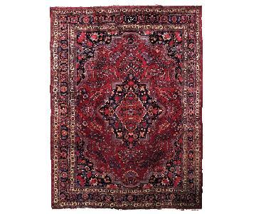 Antique Handmade Persian Mashad Rug