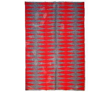 Vintage Handmade Swedish Flat-Weave Kilim Rug