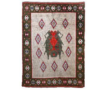 Antique Handmade Scandinavian Pile Rug