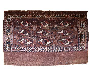 Antique Handmade Turkmen Yomud Rug