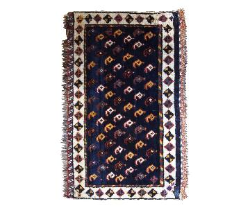 Antique Handmade Persian Collectible Luri Bag Face Rug