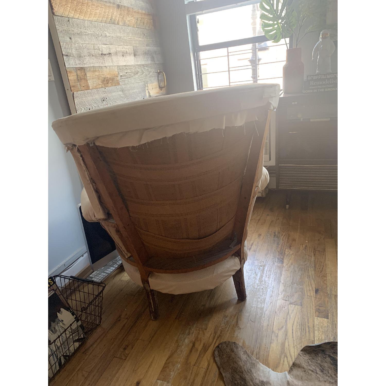 Vintage Reupholstered Queen Anne Chair Aptdeco