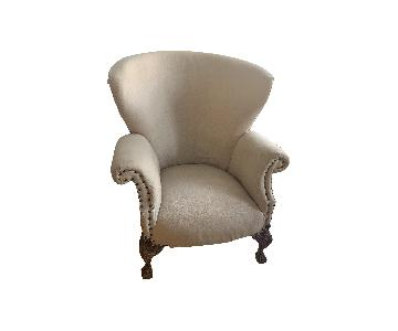 Vintage Reupholstered Queen Anne Chair