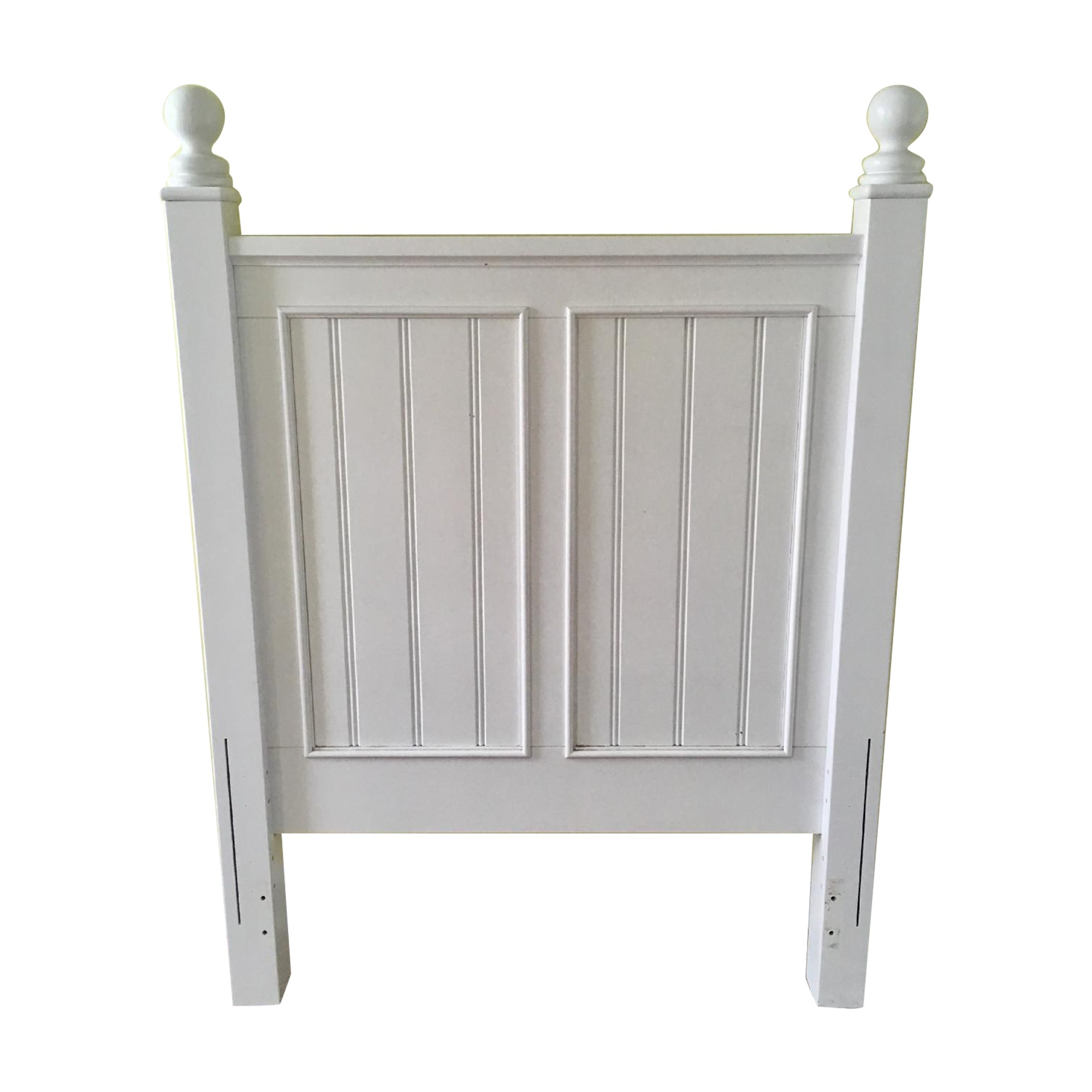 Stanley Furniture White Cottage Style Twin Headboard
