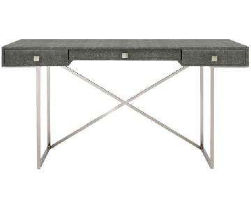 CB2 Avalon Grey Shagreen Desk