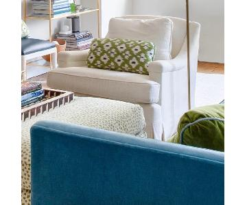 Upholstered Arm Chair in Donghia Fabric