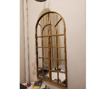 Studio 365 Lattice Gold Wall Mirror