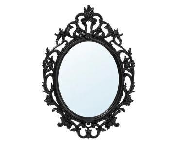 Ikea Ung Drill Black Wall Mirror