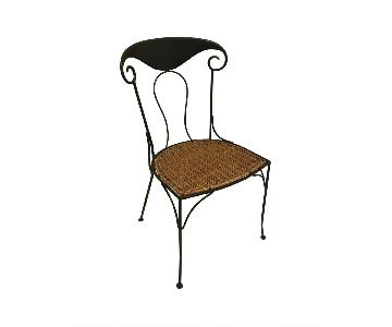 Iron & Wicker Dining Chairs