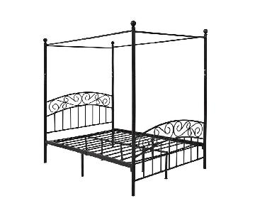 Iron Style Canopy Bed