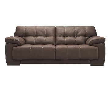 Raymour & Flanigan Castin Microfiber Sofa