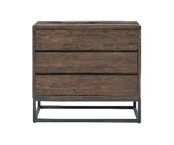 West Elm Logan Industrial 3-Drawer Dresser in Smoke Brown