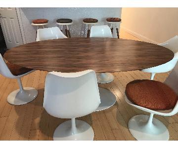 Alphaville Design Saarinen Oval Dining Table w/ 6 Chairs