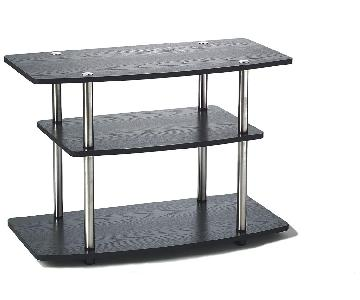 Convenience Concepts Designs2Go 3-Tier TV Stand in Black